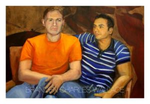 """Image of two men from """"The Comfort of Men"""" series by Branden Wallace"""